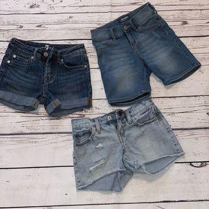 Size 7 girls denim shorts